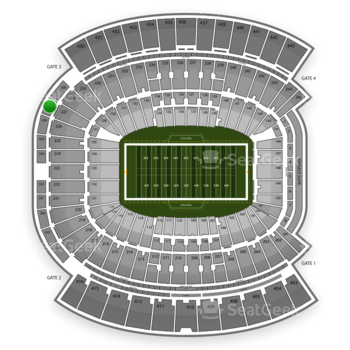 Jacksonville Jaguars at EverBank Field Section 327 View