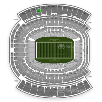Jacksonville Jaguars at EverBank Field Section 433 View