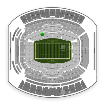 Jacksonville Jaguars at TIAA Bank Field Section 133 View