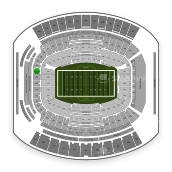 Jacksonville Jaguars at TIAA Bank Field Section 225 View