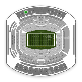 Jacksonville Jaguars at TIAA Bank Field Section 432 View