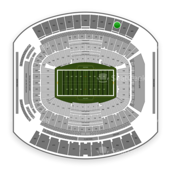 Jacksonville Jaguars at TIAA Bank Field Section 441 View