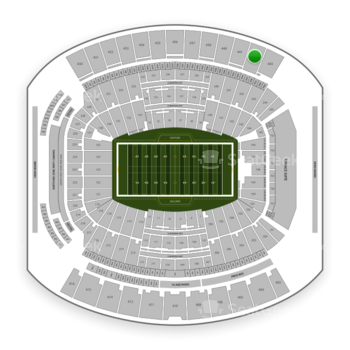 Jacksonville Jaguars at TIAA Bank Field Section 442 View