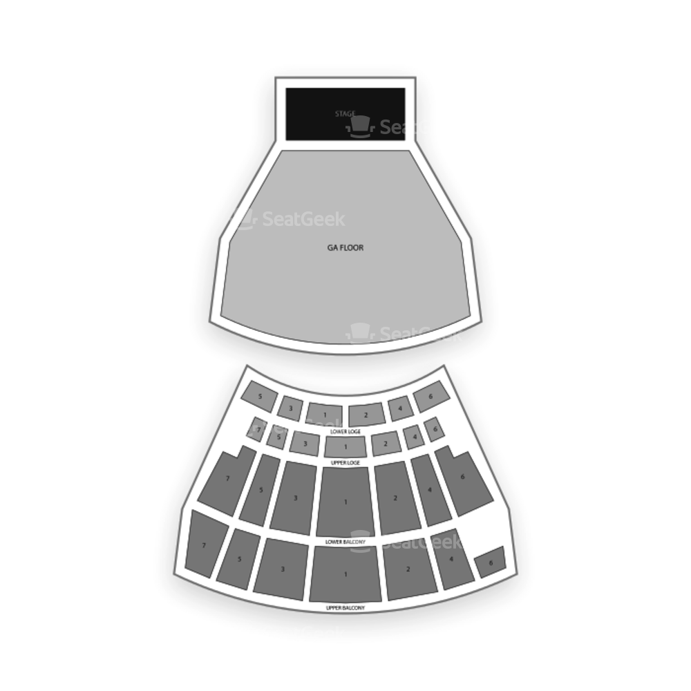 The Warfield Seating Chart Concert