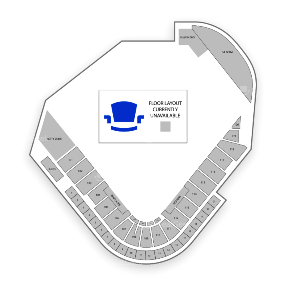 Greater Nevada Field Seating Chart Concert