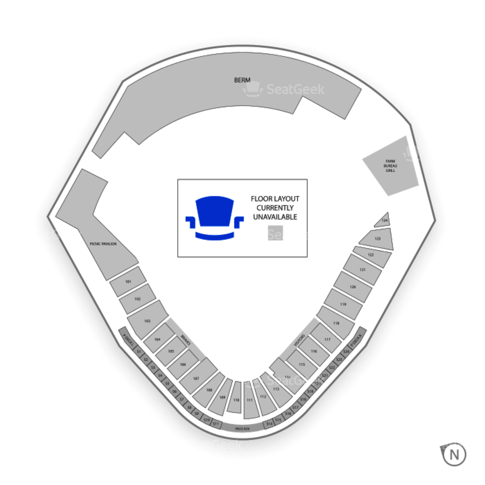 Trustmark Park Seating Chart MLB