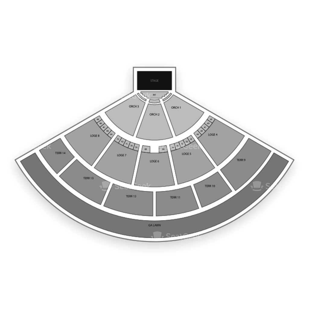 Irvine Meadows Amphitheatre Seating Chart Map Seatgeek