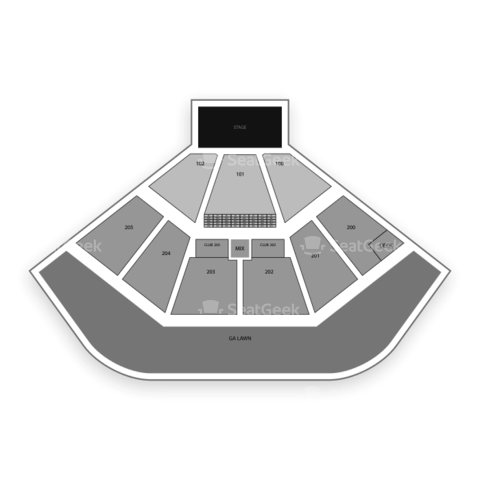 Gexa Energy Pavilion seating chart KXTs Summer Cut