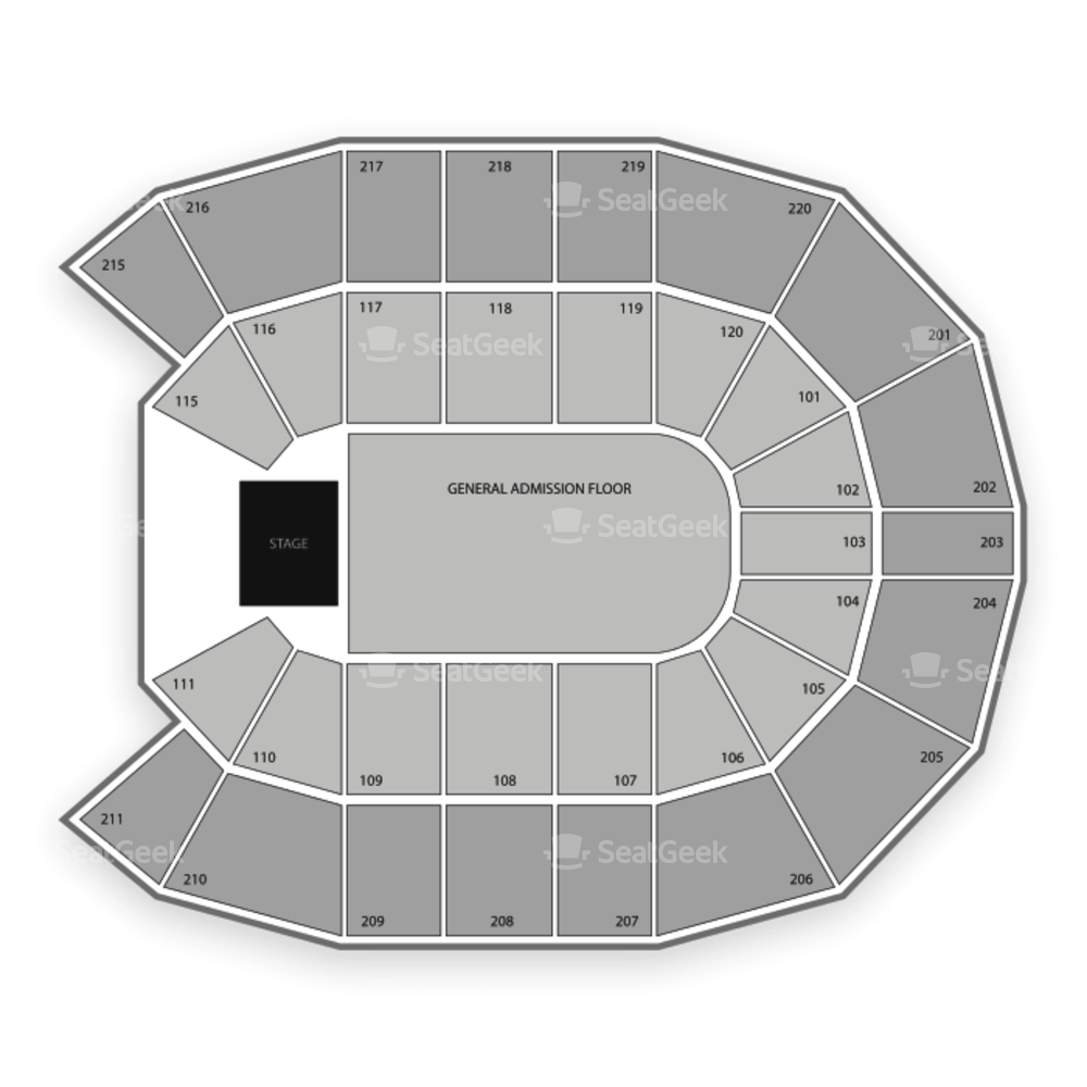 XFINITY Arena At Everett Seating Chart Concert