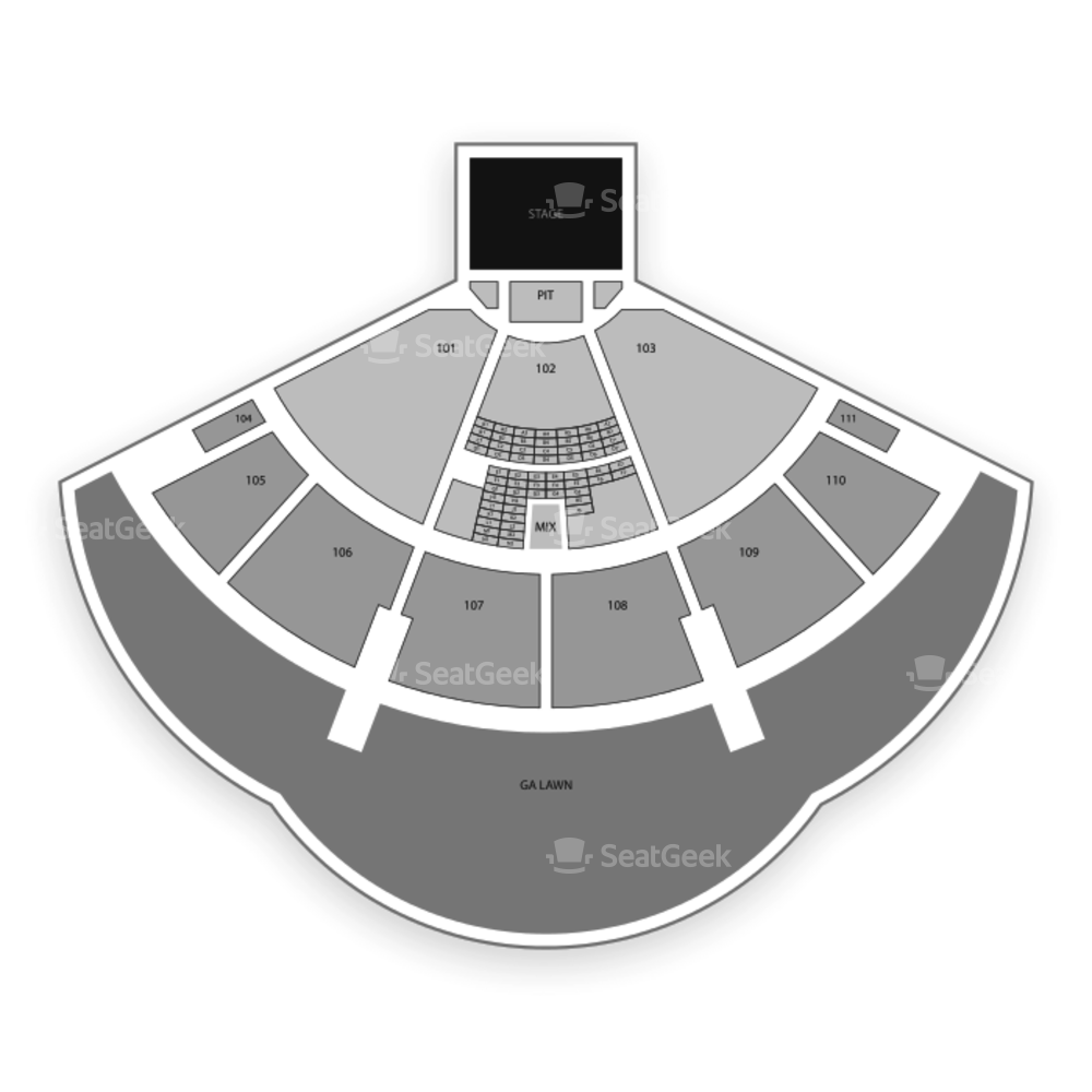 The Cynthia Woods Mitchell Pavilion Seating Chart Concert