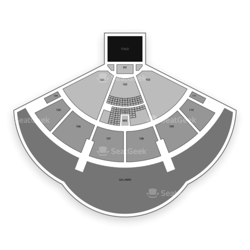 The Cynthia Woods Mitchell Pavilion Seating Chart Parking Map Seatgeek