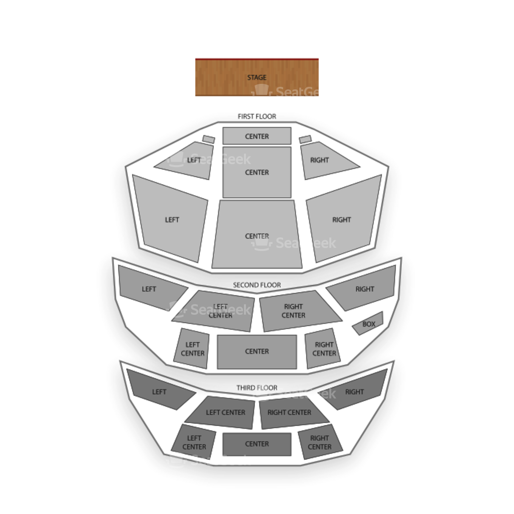 Pabst theater seating chart seatgeek