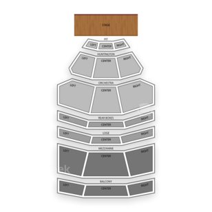 Southern Theatre Seating Chart Classical Orchestral Instrumental
