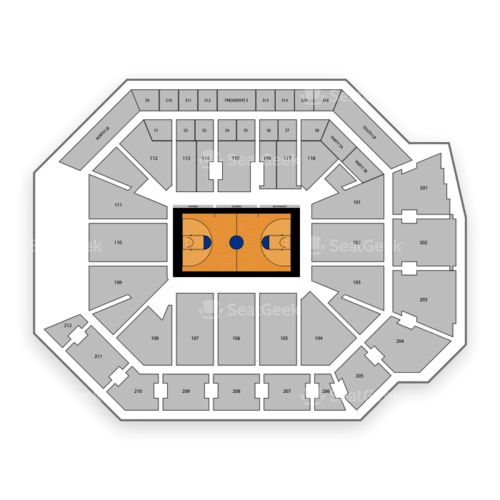 Addition Financial Arena Seating Chart Map Seatgeek