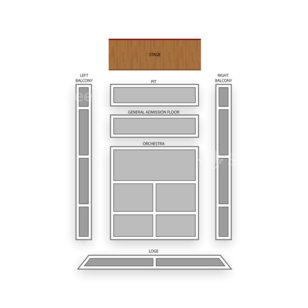 The Regency Ballroom Seating Chart Theater