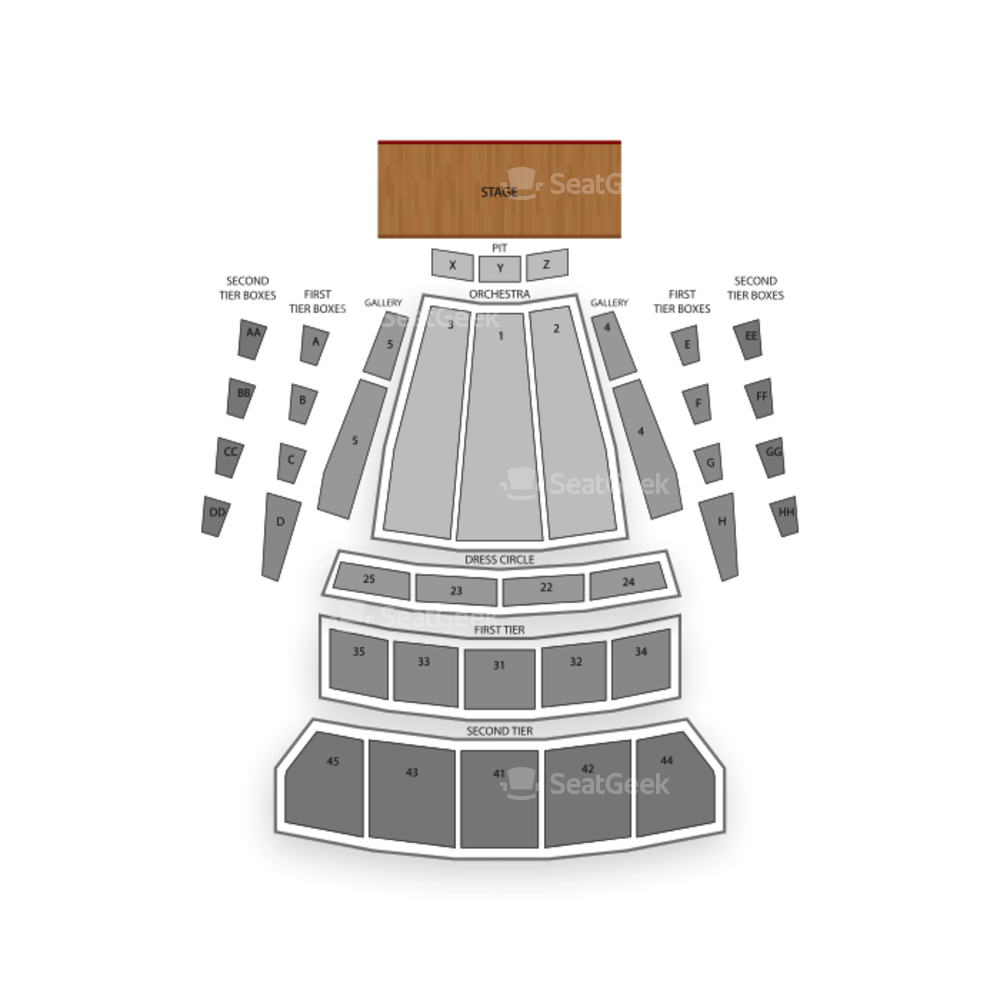 McCaw Hall Seating Chart Dance Performance Tour