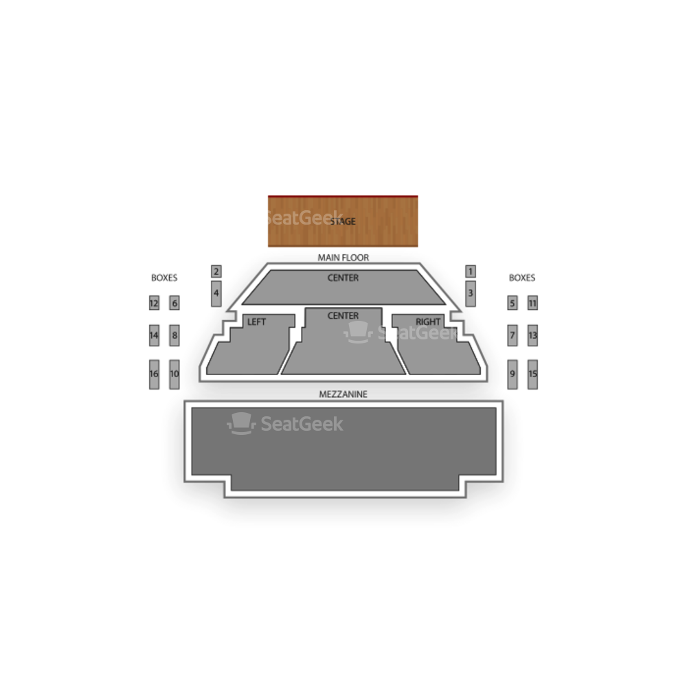 Goodman Theatre Albert Theatre Seating Chart Concert
