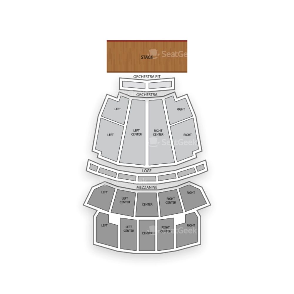Peabody Opera House Seating Chart Broadway Tickets National