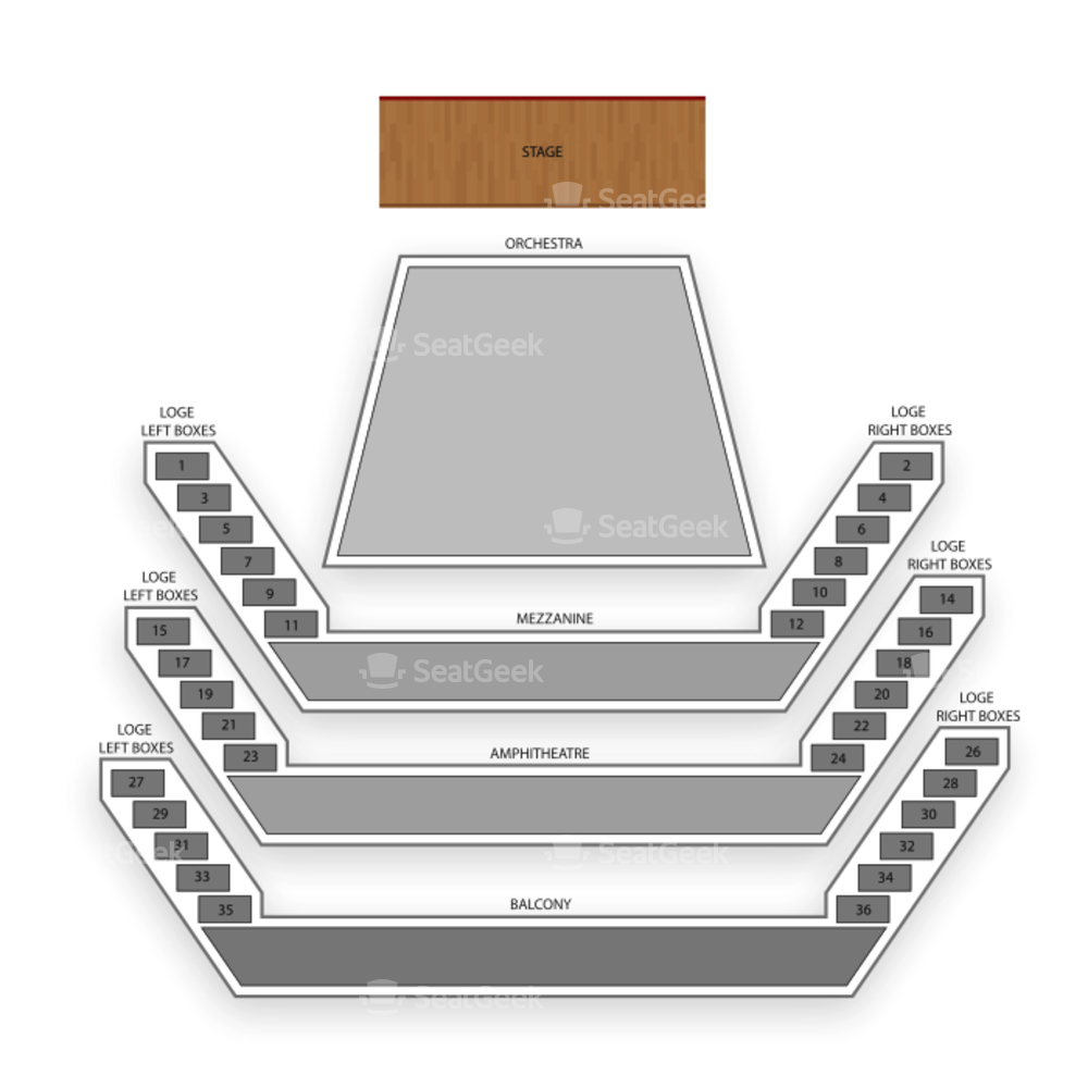 National Arts Centre Seating Chart Theater