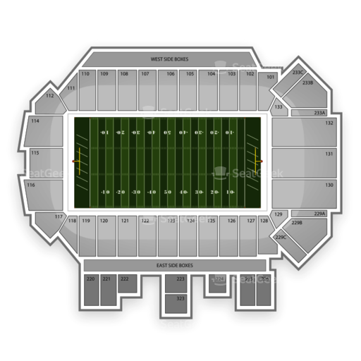 Washington-Grizzly Stadium Seating Chart
