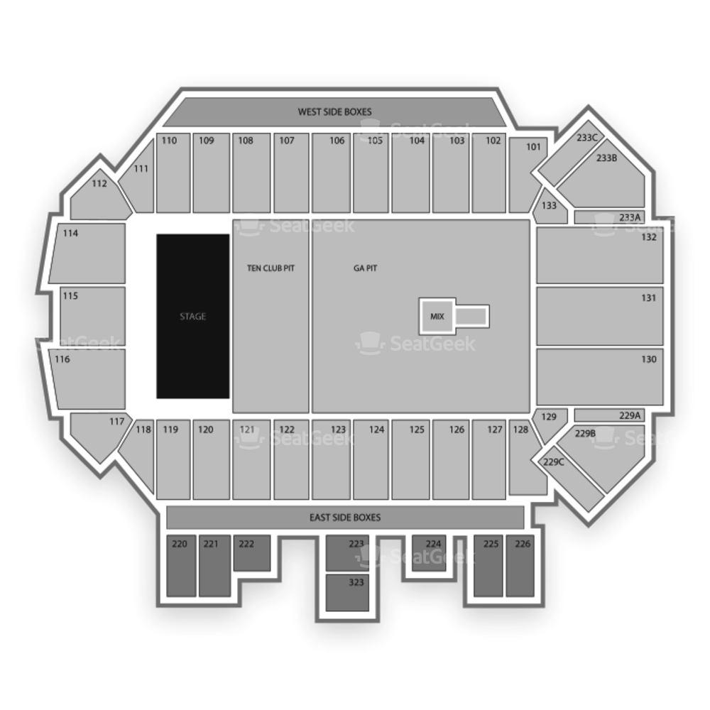 Washington-Grizzly Stadium Seating Chart Concert