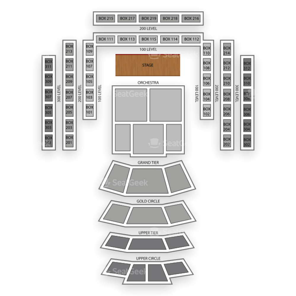 Cerritos Center Seating Chart Classical
