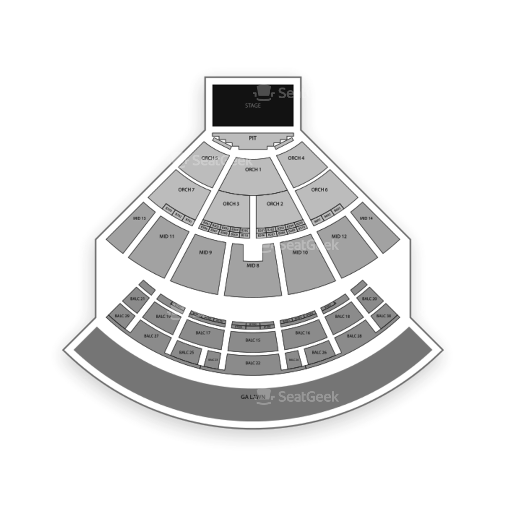 Saratoga Performing Arts Center Seating Chart Parking