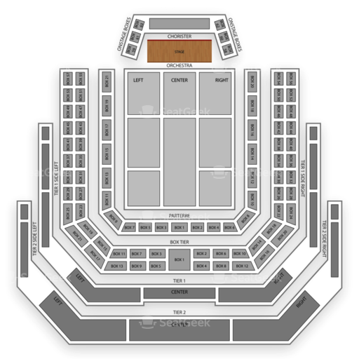 Kennedy Center Concert Hall Seating Chart Map Seatgeek