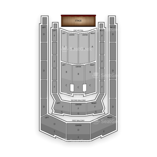 Boston Symphony Hall Seating Chart Classical Opera