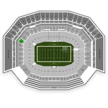 San Francisco 49ers at Levi's Stadium Section 206 View