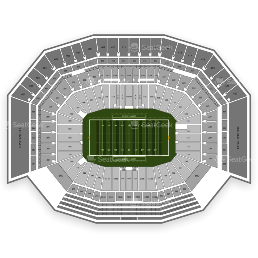 Levi's Stadium Seating Chart NCAA Football