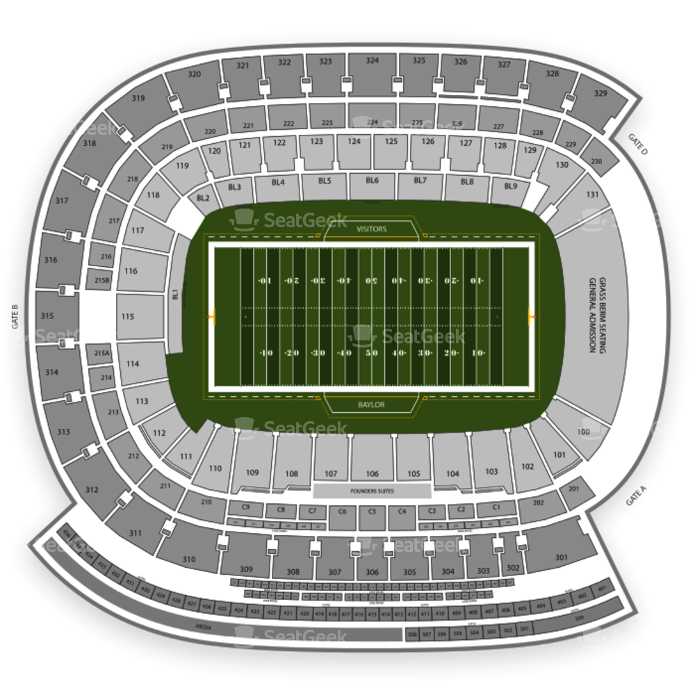 McLane Stadium Seating Chart Parking