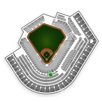 Cleveland Indians at Progressive Field Section 252 View