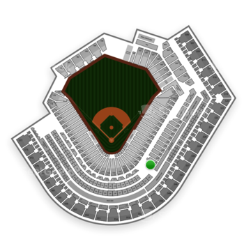 Cleveland Indians at Progressive Field Section 348 View