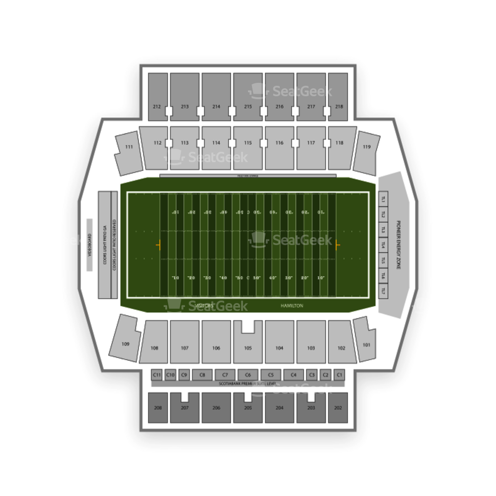 Tim Hortons Field Seating Chart Concert