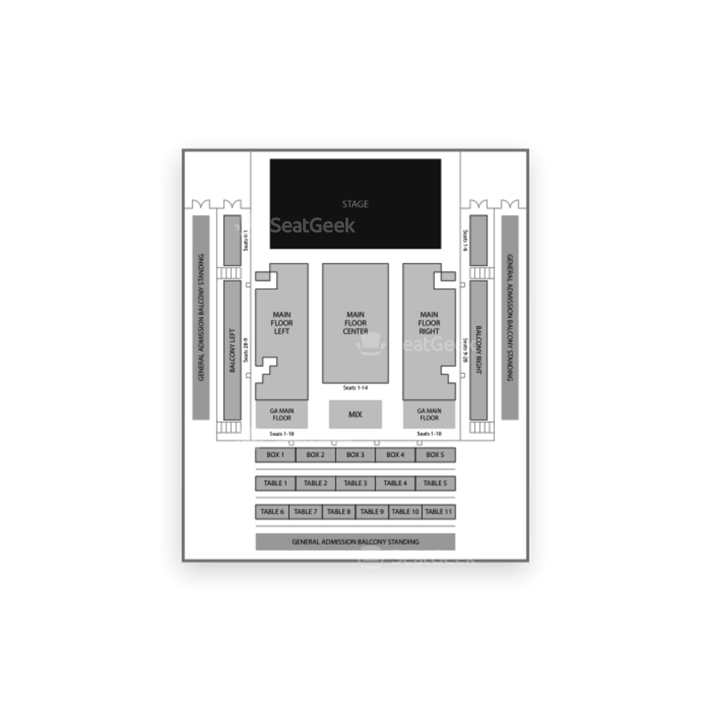 The Fillmore Silver Spring Seating Chart Comedy