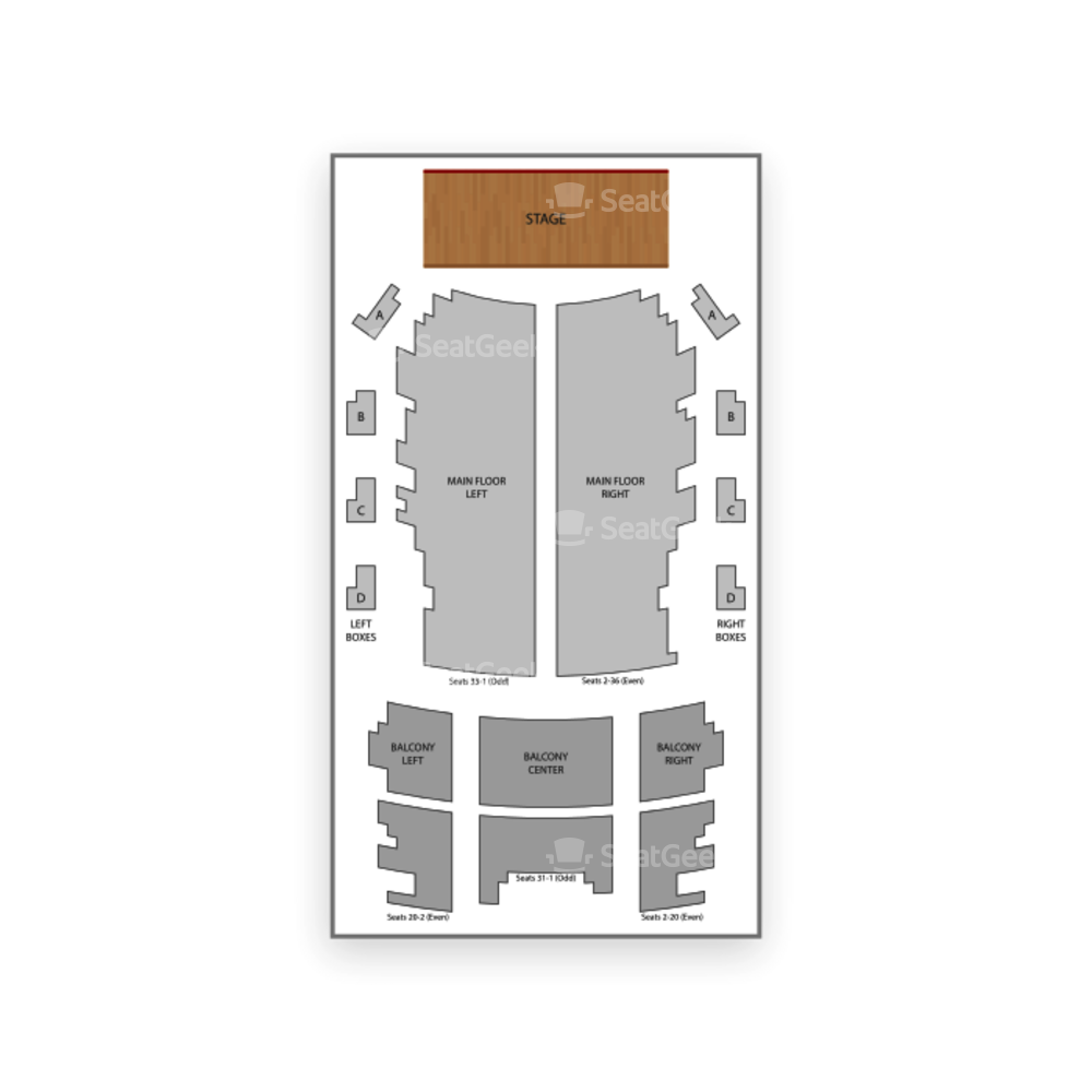 Jack White Theater at The Masonic Temple Seating Chart Boxing