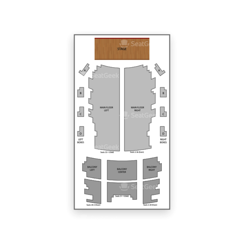 Grand Ole Opry House Seating Chart - Architectural Designs