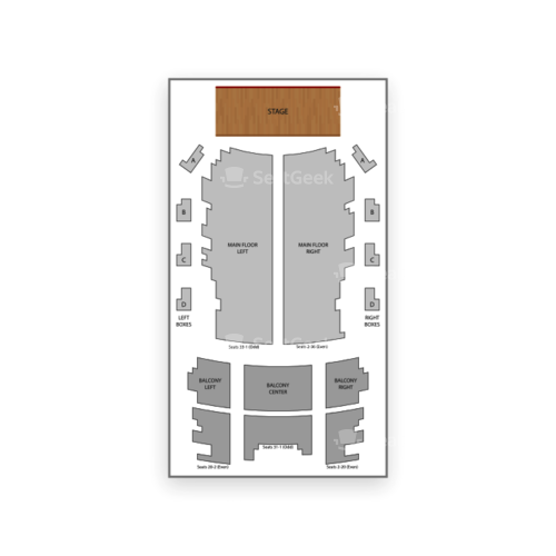 Jack White Theater at The Masonic Temple Seating Chart Concert