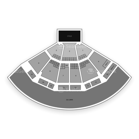 Verizon Wireless Amphitheatre Charlotte seating chart Kenny Chesney
