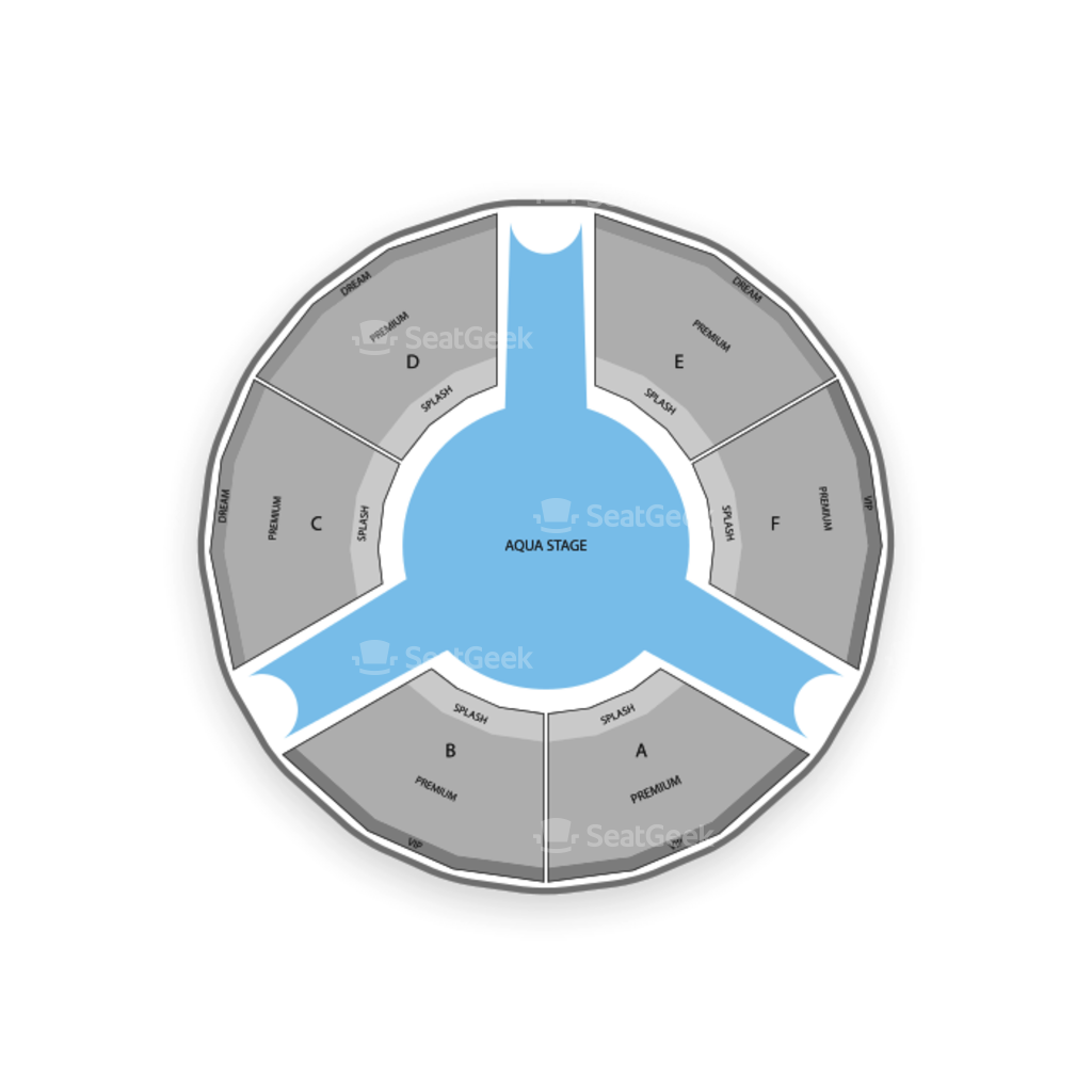 Le Reve The Dream Seating Chart Le Reve Tickets Cheap The
