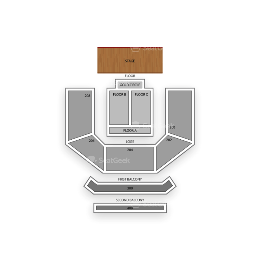 House of Blues - Las Vegas Seating Chart Comedy