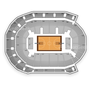 Ford Center Seating Chart NCAA Basketball
