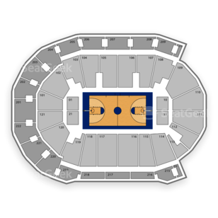 Evansville Aces Basketball Seating Chart