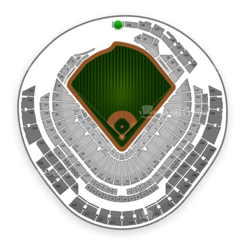 Miami Marlins at Marlins Park Section 134 View