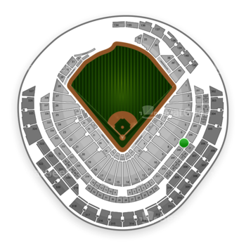 Miami Marlins at Marlins Park Section 207 View