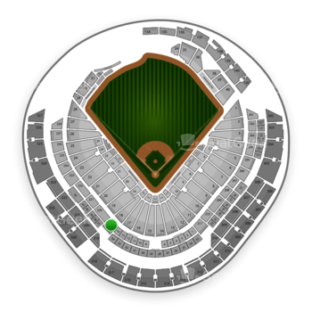 Miami Marlins at Marlins Park Section 219 View