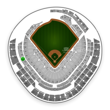 Miami Marlins at Marlins Park Section 224 View