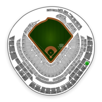 Miami Marlins at Marlins Park Section 306 View