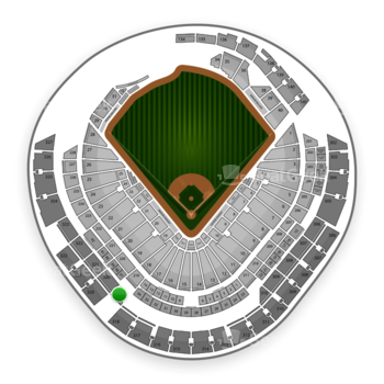 Miami Marlins at Marlins Park Section 319 View